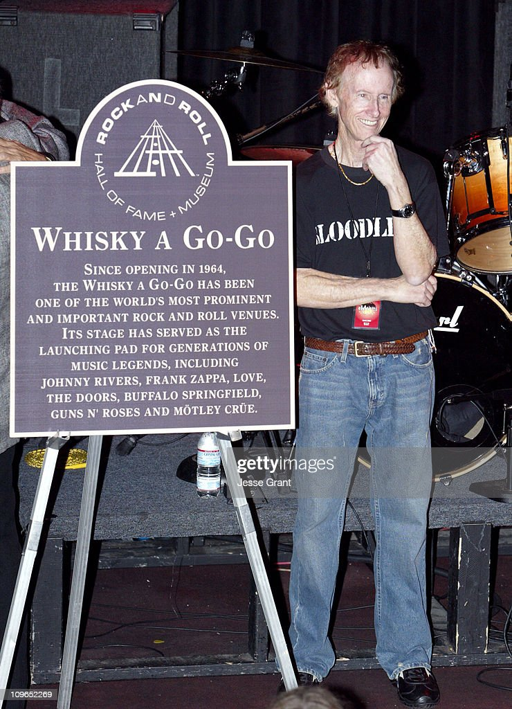 Robby Krieger of The Doors with the Rock and Roll Hall of Fame plaque commemorating the & The Doors 40th Anniversary Celebration - Ray Manzarek and Robby ... pezcame.com
