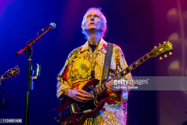 Robby Krieger performs at City National Grove of Anaheim on January 24 2019 in Anaheim California