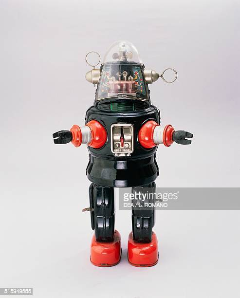 Robby metal and plastic toy robot battery powered made by Nomura 1950 Japan 20th century