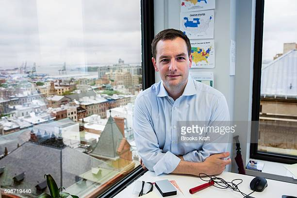 Robby Mook Campaign Manager for Democratic presidential candidate Hillary Clinton inside the campaign headquarters June 28 2016 in Brooklyn NY