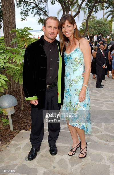 Robbie Naish with his wife attend the Laureus Sport for Good Foundation Dinner and Auction at the Monte Carlo Sporting Club on May 19 2003 in Monaco
