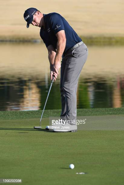 Robby Shelton putts on the ninth hole during the second round of The American Express tournament at the Jack Nicklaus Tournament Course at PGA West...