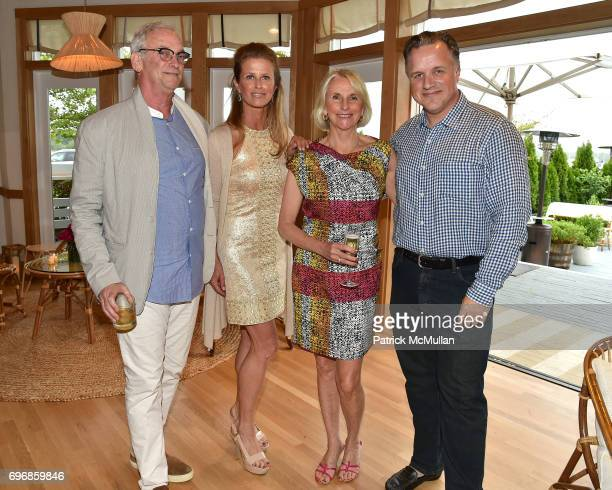 Robby Stein Alex Lerner Jayne Young and Nick Gazzolo attend Cocktails to Learn About The Sag Harbor Cinema Project at Le Bilboquet on June 16 2017 in...