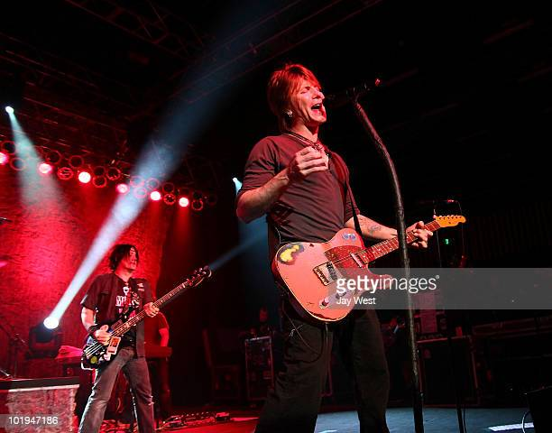 Robby Takac and John Rzeznik of Goo Goo Dolls perform at Austin Music Hall on June 9 2010 in Austin Texas