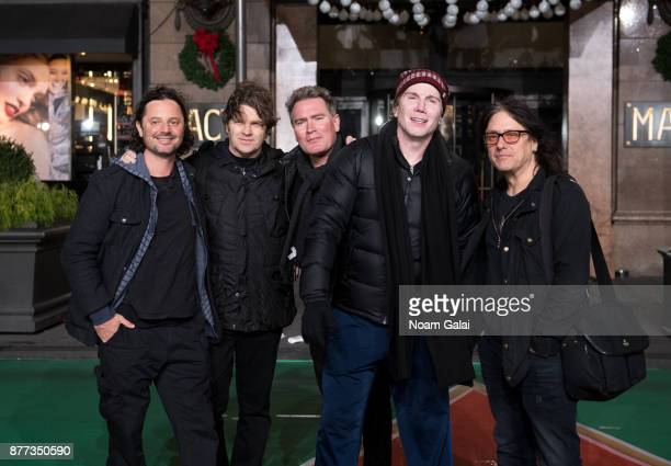 Robby Takac Brad Fernquist Korel Tunador John Rzeznik and Craig Macintyre of The Goo Goo Dolls attend the rehearsals for the 91st Annual Macy's...