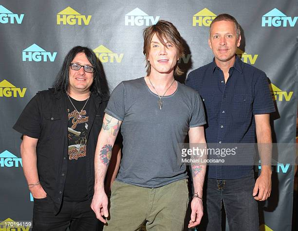 Robby Takac Mike Malinin and John Rzenik of the Goo Goo Dolls attend HGTV'S The Lodge At CMA Music Fest Day 3 on June 8 2013 in Nashville Tennessee