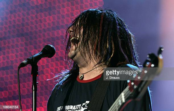 Robby Takac of Goo Goo Dolls during Goo Goo Dolls Performs Live at Verizon Wireless Amphitheater June 30 2006 at Verizon Wireless Amphitheater in...
