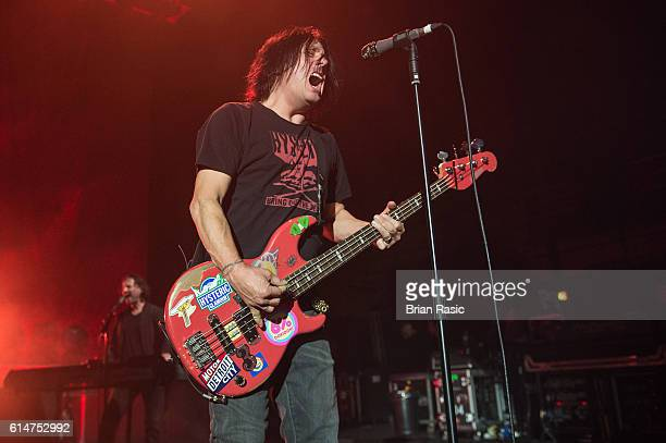 Robby Takac of the Goo Goo Dolls performs at Eventim Apollo on October 14 2016 in London England