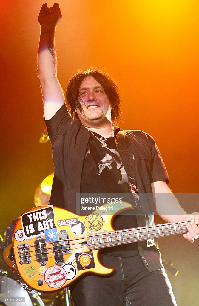 Robby Takac of the Goo Goo Dolls performs at The Paramount on November 12, 2011 in Huntington, New York.
