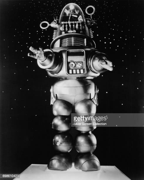 Robby the Robot in a publicity still for the science fiction film 'Forbidden Planet' 1956