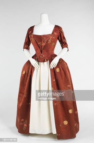 Robe à l'Anglaise, British, 1740-60. Artist Unknown.