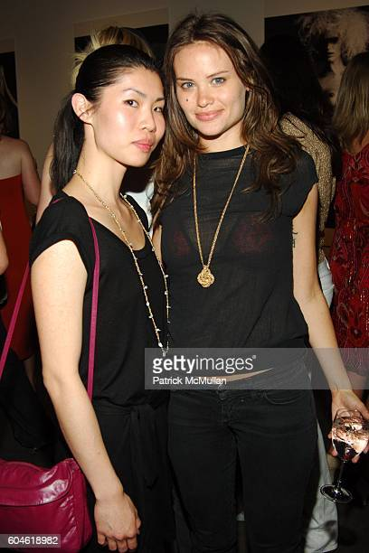 Robecca Lau and Kristina Ratliff attend GREG KADEL Opening Reception at Milk Gallery on June 22 2006 in New York City