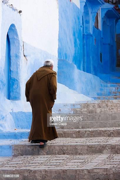 Robed man, Chefchauen, Morocco, North Africa