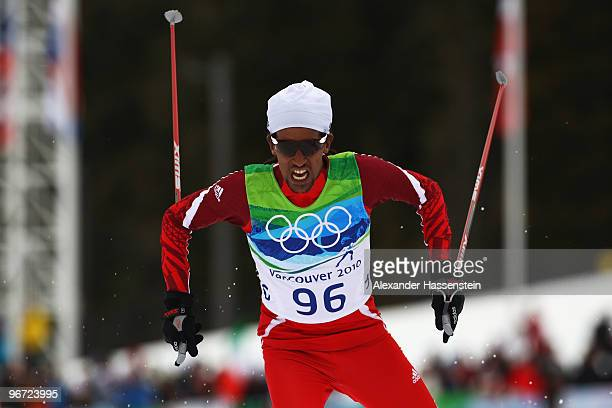 Robel Zeimichael Teklemariam of Ethiopia competes in the men's crosscountry skiing 15 km final on day 4 of the 2010 Winter Olympics at Whistler...