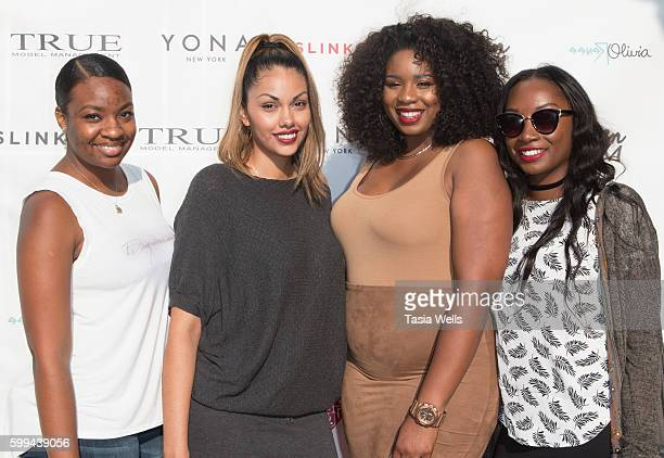 Robernea Scott Maria Vargas actor and model Jazzmine Carthon and Jessica Dell attend Growing Up Plus campaign launch party at Imperial Arts Studios...
