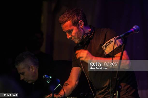 Robert '3D' Del Naja and Cuts from the trip hop super group Massive Attack play a surprise DJ and live mix set at the Extinction Rebellion protest...