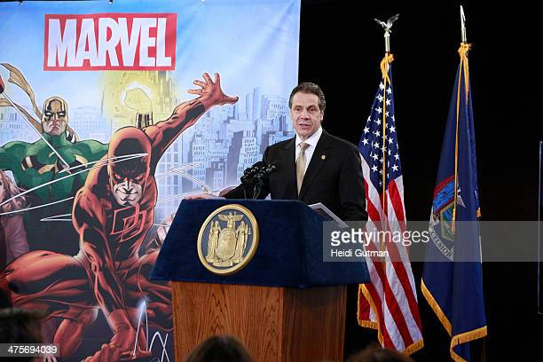 NEW YORK 2/26/14 Robert A Iger along with Governor Andrew Cuomo of New York and Joe Quesada announced a multimilliondollar incentive television deal...