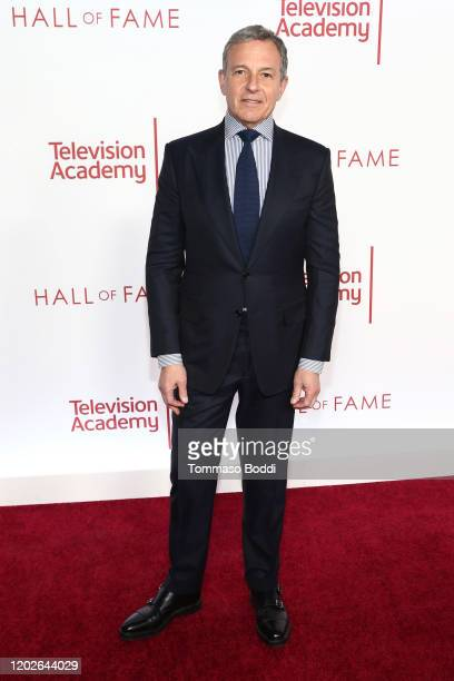 Robert A Iger attends the Television Academy's 25th Hall Of Fame Induction Ceremony at Saban Media Center on January 28 2020 in North Hollywood...