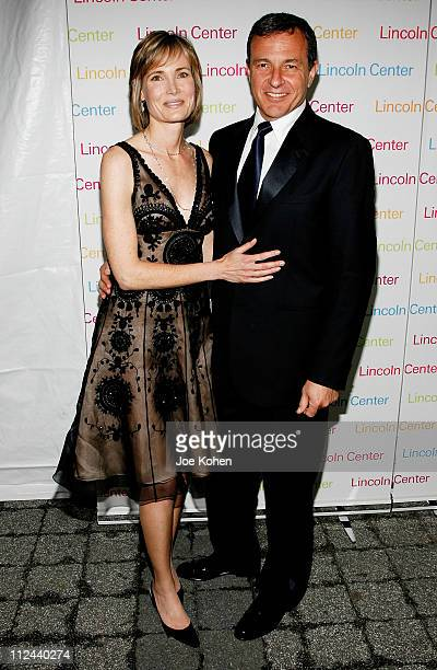Robert A Iger President and CEO The Walt Disney Company and wife Willow Bay arrive at the 2008 Lincoln Center Spring Gala Honoring Robert Iger on...