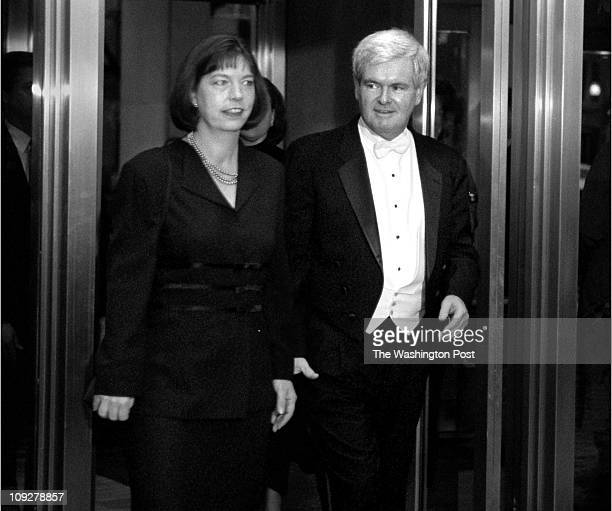 Robert A Reeder TWP Capitol Hilton Hotel BRIEF DESCRIPTION Arrivals to the Gridiron Dinner Speaker of the House Newt Gingrich and his wife arrive...