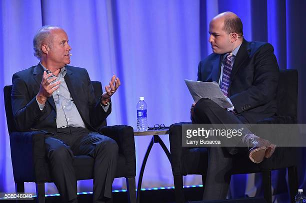 Robert A. Sauerberg Jr., president and CEO, Condé Nast, and Brian Stelter, host and Reliable Sources and senior media correspondent at CNN Worldwide...