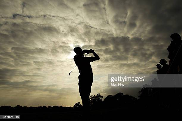 Robert Allenby plays a shot on the fairway during round two of the 2012 Australian Open at The Lakes Golf Club on December 7 2012 in Sydney Australia