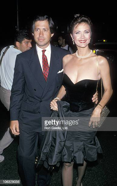 Robert Altman and Lynda Carter during Chie Fashion Event September 14 1989 at Bergdorf Goodman in New York City New York United States