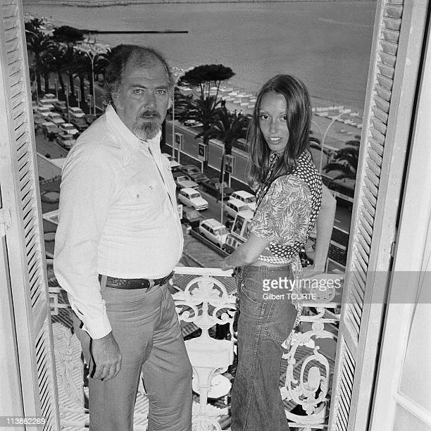 Robert Altman and Shelley Duvall at Cannes Film Festival in 1974 in Cannes, France.
