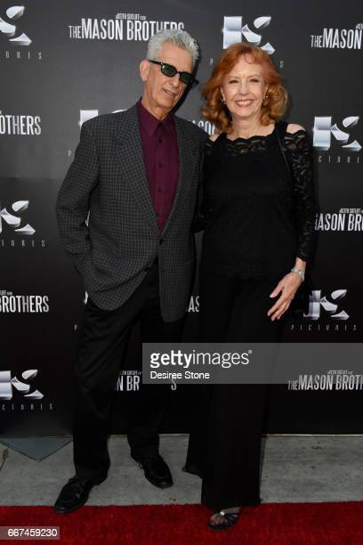 """Robert Amico and Pamela Keith Ferguson attend the premiere of """"The Mason Brothers"""" at the Egyptian Theatre on April 11, 2017 in Hollywood, California."""