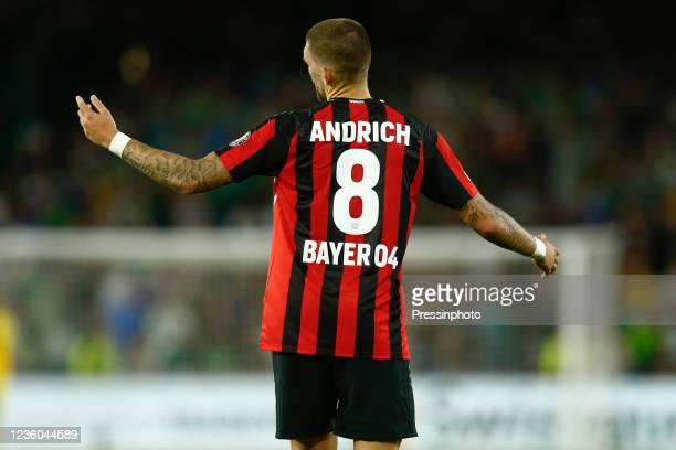 Robert Andrich of Bayer 04 Leverkusen during the UEFA Europa League match between Real Betis and Bayer 04 Leverkusen played at Benito Villamarin...