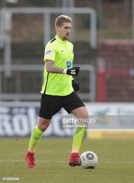 Robert Andrich of Wiesbaden controls the ball during the 3 Liga match between SC Fortuna Koeln and SV Wehen Wiesbaden at Suedstadion on February 17...