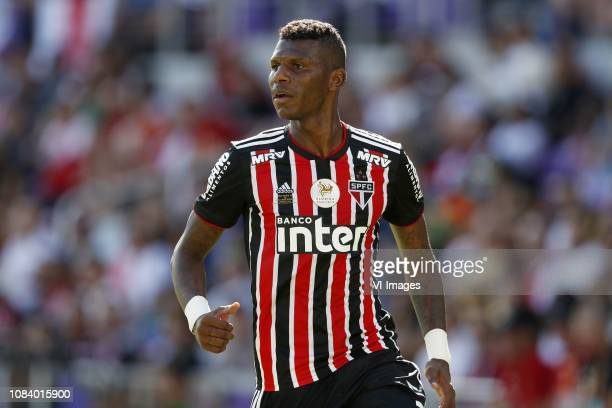 Robert Arboleda of Sao Paolo FC during the Florida Cup 2019 match between Ajax Amsterdam v Sao Paulo FC at Orlando City Stadium on January 12, 2019...