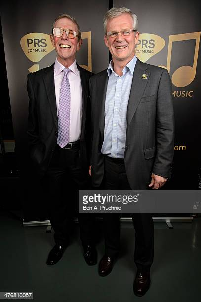Robert Ashcroft and Les Reed attends PRS for Music 100 Years of Music VIP launch at Getty Images Gallery on March 5 2014 in London England