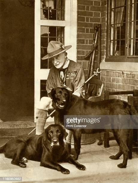 Robert BadenPowell at home with his dogs circa 1929 English soldier Robert Stephenson Smyth BadenPowell 1st Viscount BadenPowell became famous as the...