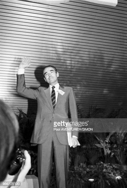 Robert Badinter lors du congrès du Parti Socialiste à Toulouse du 11 au 13 octobre 1985 France