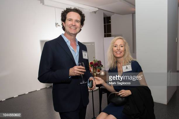 Robert Baird and Karen FisherBaird attend The Academy Of Motion Picture Arts Sciences 2018 New Members Party at Top of the Rock's 620 Loft Garden on...