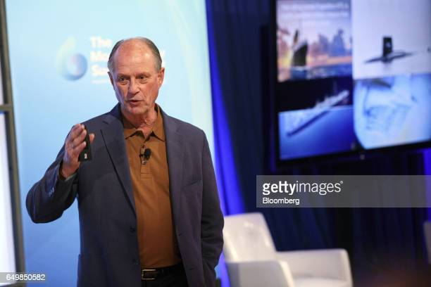 Robert Ballard president of Ocean Exploration Trust speaks during the Montgomery Summit in Santa Monica California US on Wednesday March 8 2017 The...