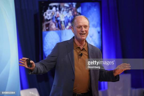 Robert Ballard president of Ocean Exploration Trust speaks during the Montgomery Summit in Santa Monica California US on Wednesday March 8 2017 The...