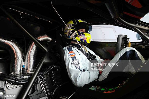 Robert Bell of team Gulf Racing UK Mclaren Mp412c sits in his car during the Blancpain GT Endurance test day one at Autodromo di Monza on April 13...