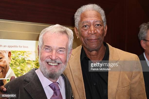 Robert Benton and Morgan Freeman attend New York Special Screening of FEAST OF LOVE at Dolby 88 Screening Room on September 17 2007 in New York City