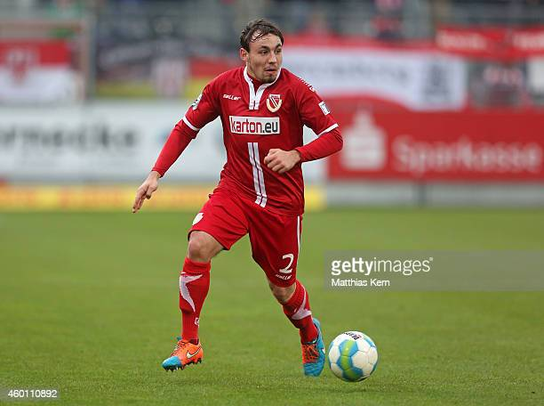 Robert Berger of Cottbus runs with the ball during the third league match between FC Energie Cottbus and VFL Osnabrueck at Stadion der Freundschaft...