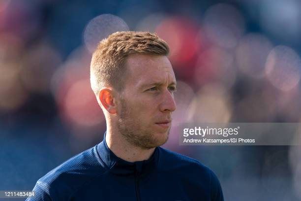 Robert Beric of Chicago Fire during a game between Chicago Fire and New England Revolution at Gillette Stadium on March 7 2020 in Foxborough...