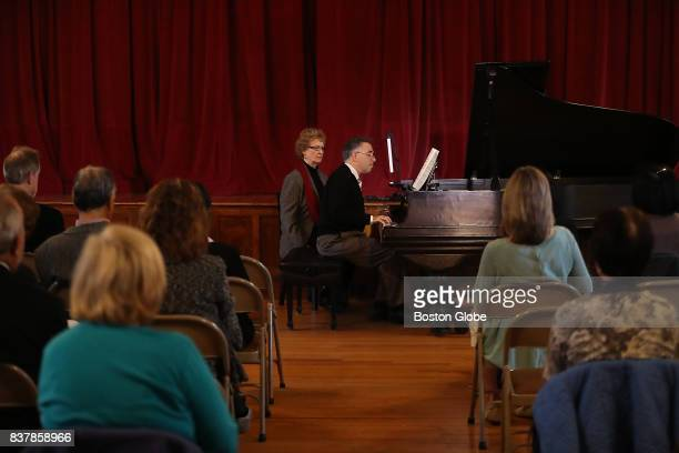 Robert Berkowitz a psychiatrist and highlevel amateur pianist from Natick performs the music of Lajos Delej a Hungarian composer during a recital...