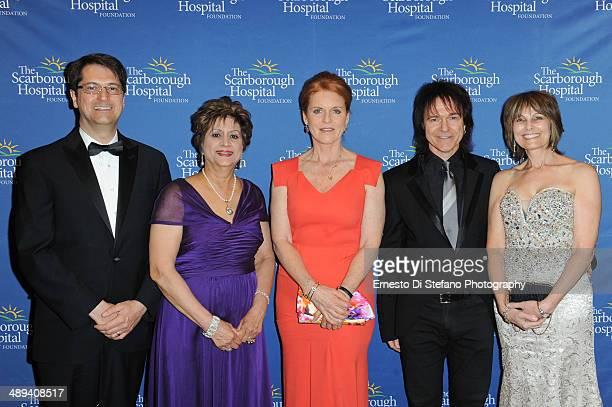 Robert Biron Dr Dhun Noria Sarah Ferguson The Duchess of York Lawrence Gowan and Janice Gowan attend The Scarborough World Gala Lifetime Achievement...