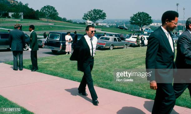 Robert Blake at the Funeral Service for Sammy Davis Jr Forest Lawn Memorial Park Los Angeles