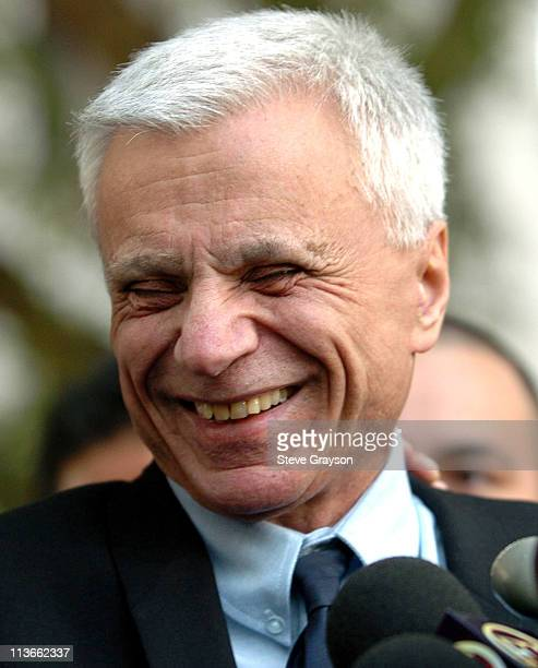 Robert Blake laughs as he answers questions from the media at a press conference after he was acquitted of the murder charges of his wife Bonny Lee...