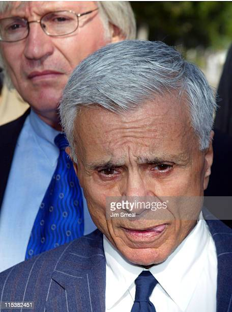 Robert Blake speaks to the media as his attorney Thomas Mesereau Jr. Listens, before a pre-trial session on the murder charges he faces in the death...