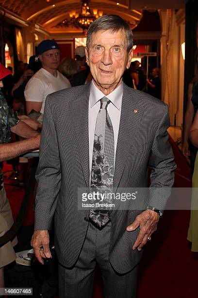 Robert Blake Theodore Terrible Ted Lindsay former player of the Detroit Red Wings arrives before the 2012 NHL Awards at the Encore Theater at the...