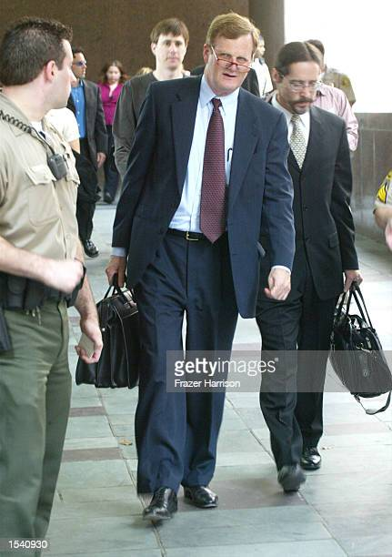 Robert Blake's attorney Harland Braun exits the Van Nuys courthouse after a Superior Court commissioner granted Robert Blake's daughter Delinah...
