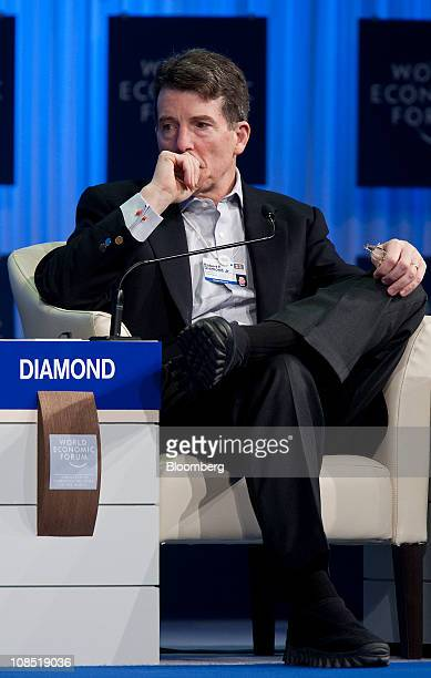 Robert 'Bob' Diamond chief executive officer of Barclays Plc participates in a session on the fourth day of the World Economic Forum Annual Meeting...